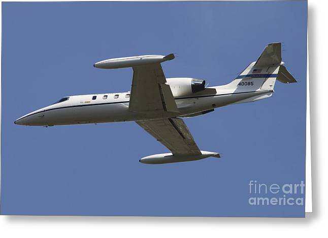 Private Jet Greeting Cards - United States Air Forces Europe C-21a Greeting Card by Timm Ziegenthaler