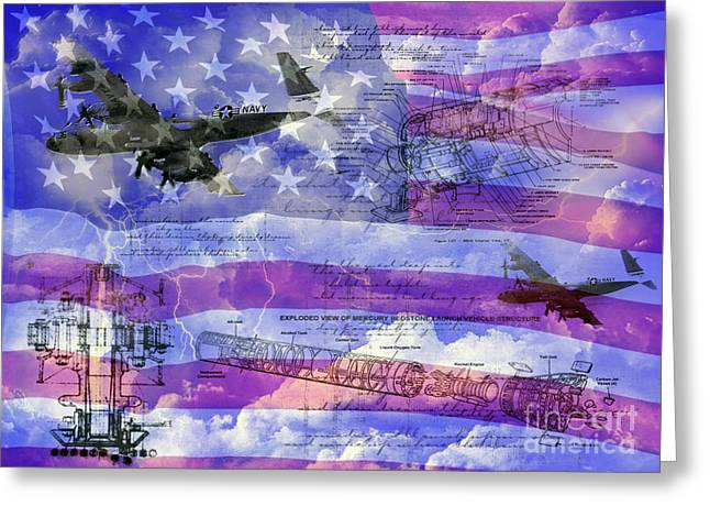 Gallantry Greeting Cards - United States Armed Forces one Greeting Card by Ken Frischkorn