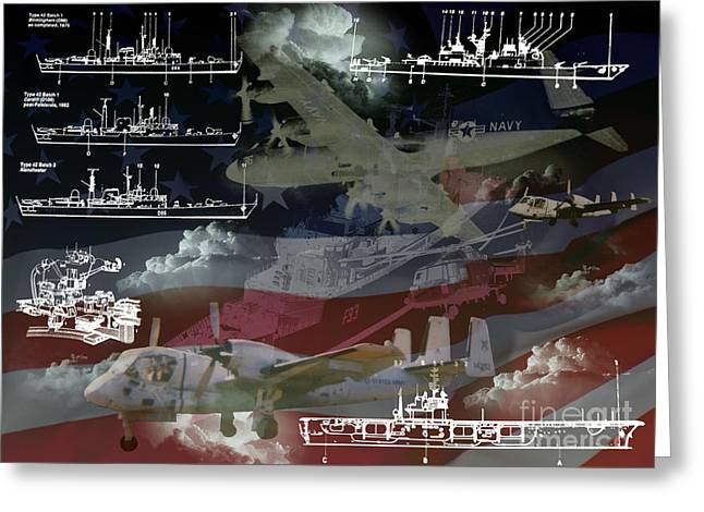 Gallantry Greeting Cards - United States Armed Forces two Greeting Card by Ken Frischkorn