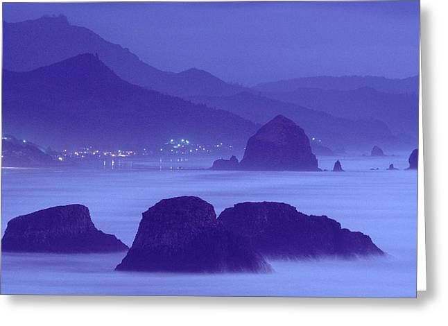 State Parks In Oregon Greeting Cards - United States, Oregon, Cannon Beach Sea Greeting Card by Keenpress