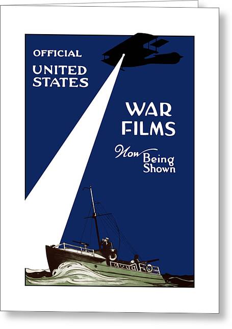 Ww1 Greeting Cards - United States War Films Now Being Shown Greeting Card by War Is Hell Store