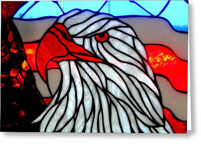 Stainglass Greeting Cards - United We Stand Greeting Card by Allen n Lehman