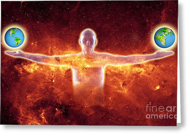 Humankind Greeting Cards - Uniting The World Greeting Card by George Mattei