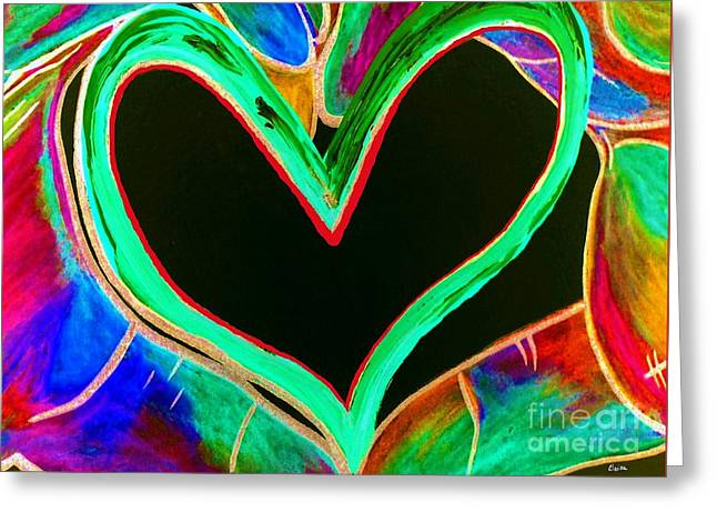Universal Sign For Love Greeting Card by Eloise Schneider