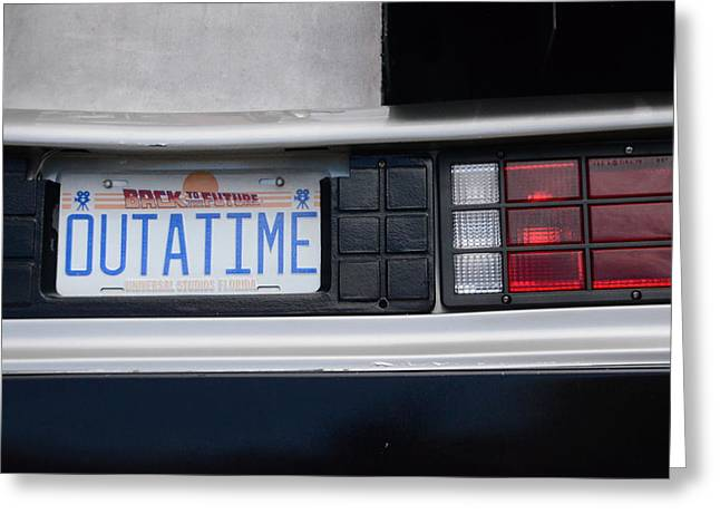 Dmc-12 Greeting Cards - Outatime Plates Greeting Card by Luke Pickard
