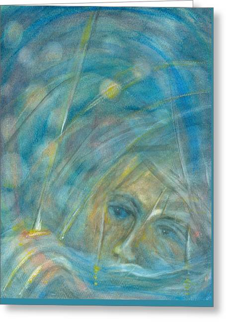 Souls Greeting Cards - Universe swimmer Greeting Card by Suzy Norris