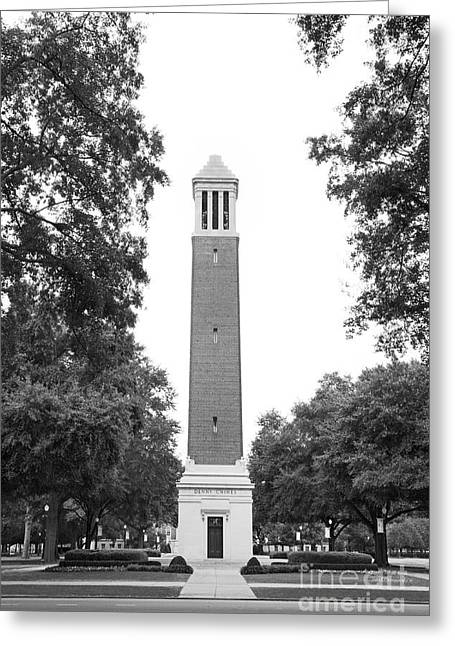 University Of Alabama Denny Chimes Greeting Card by University Icons