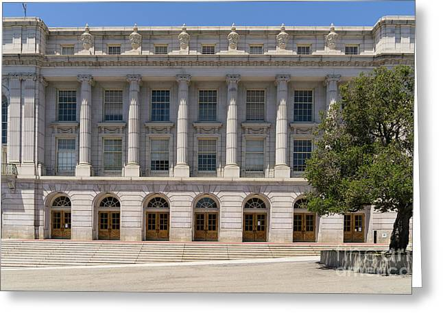 University Of California Berkeley Historic Ide Wheeler Hall Dsc4060 Greeting Card by Wingsdomain Art and Photography