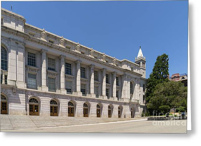 University Of California Berkeley Historic Ide Wheeler Hall South Hall And The Campanile Dsc4064 Greeting Card by Wingsdomain Art and Photography