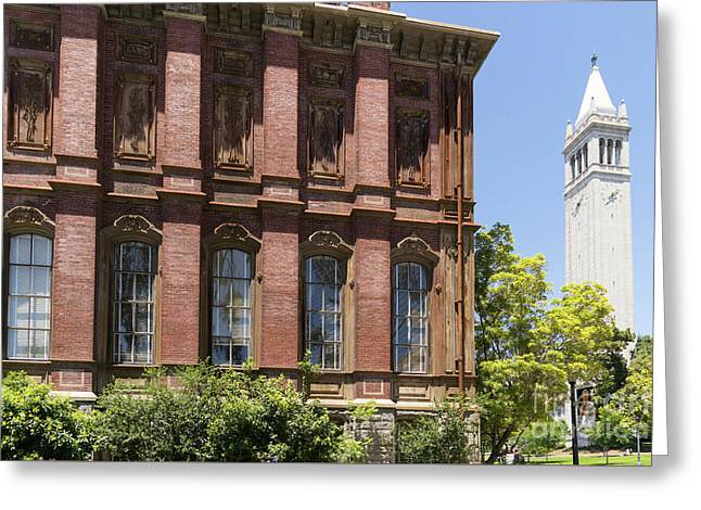 University Of California Berkeley Historic South Hall And The Campanile Dsc4054 Greeting Card by Wingsdomain Art and Photography
