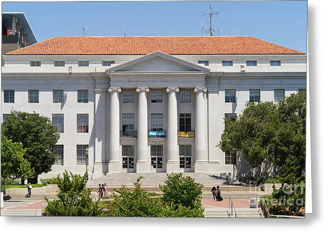 University Of California Berkeley Historic Sproul Hall At Sproul Plaza Dsc4088 Greeting Card by Wingsdomain Art and Photography