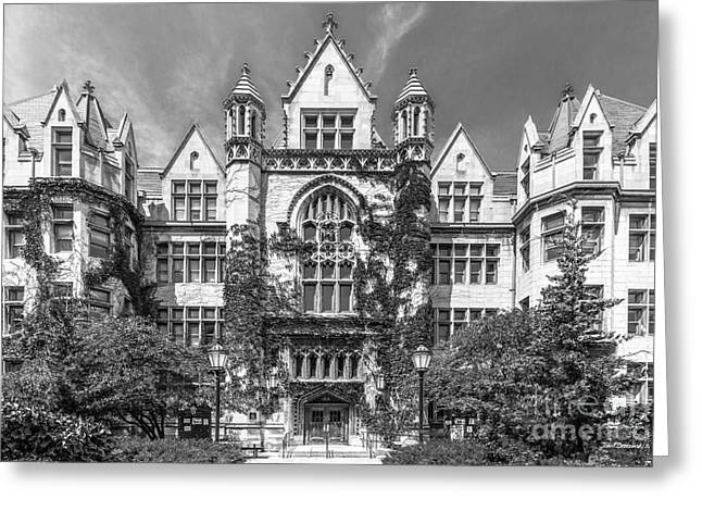 Cobb Greeting Cards - University of Chicago Cobb Hall Greeting Card by University Icons