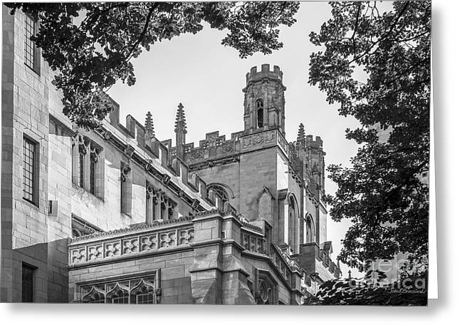 Association Of American Universities Greeting Cards - University of Chicago Collegiate Architecture Greeting Card by University Icons