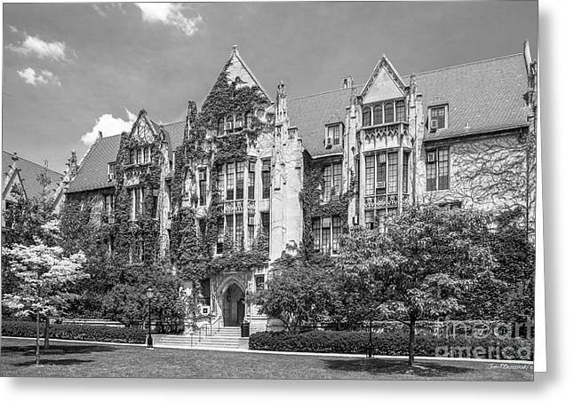 University Of Chicago Eckhart Hall Greeting Card by University Icons