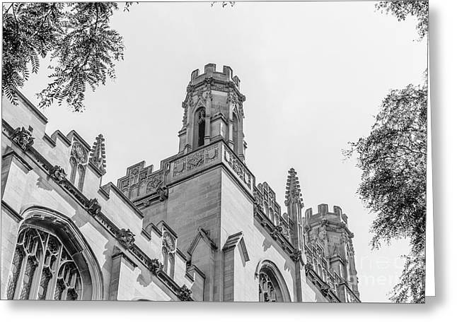 Library Greeting Cards - University of Chicago Harper Library  Greeting Card by University Icons