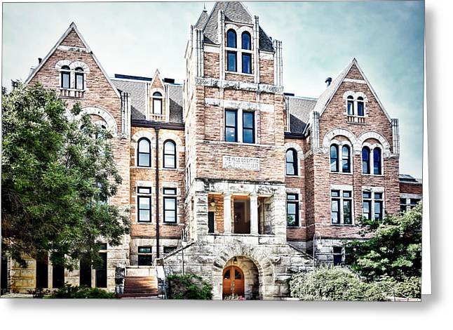 University Of Boulder Colorado Greeting Cards - University of Colorado  Hale Building - photography Greeting Card by Ann Powell