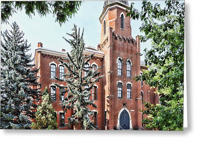 Cu Boulder Greeting Cards - University of Colorado Old Main in Summer - photography Greeting Card by Ann Powell
