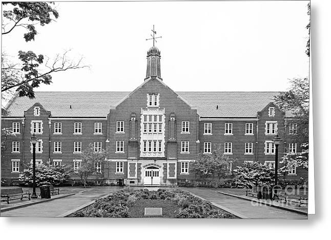 University Of Connecticut Whitney Hall Greeting Card by University Icons