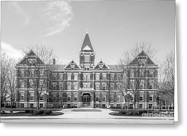 Occasion Greeting Cards - University of Findlay Old Main Greeting Card by University Icons