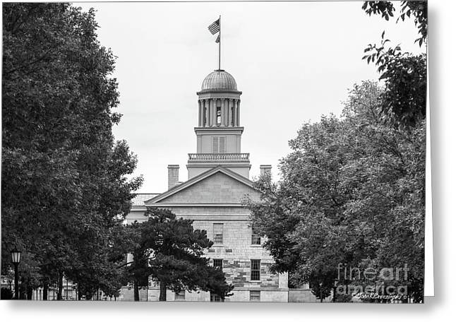 University Of Iowa Old Capital Greeting Card by University Icons