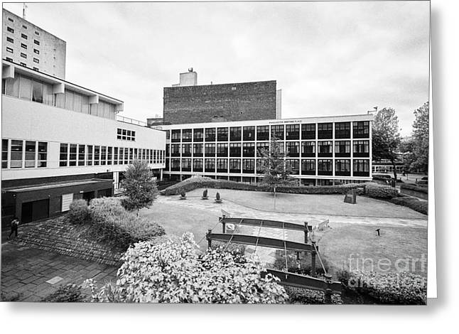 University Of Manchester Campus And Meeting Place England Uk Greeting Card by Joe Fox