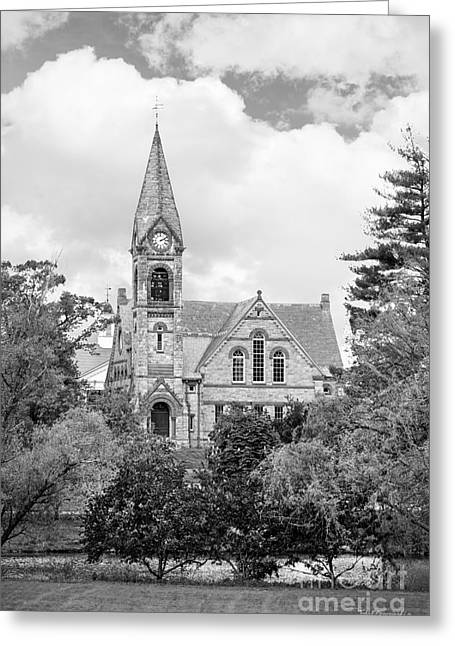 University Of Massachusetts Amherst Old Chapel Greeting Card by University Icons