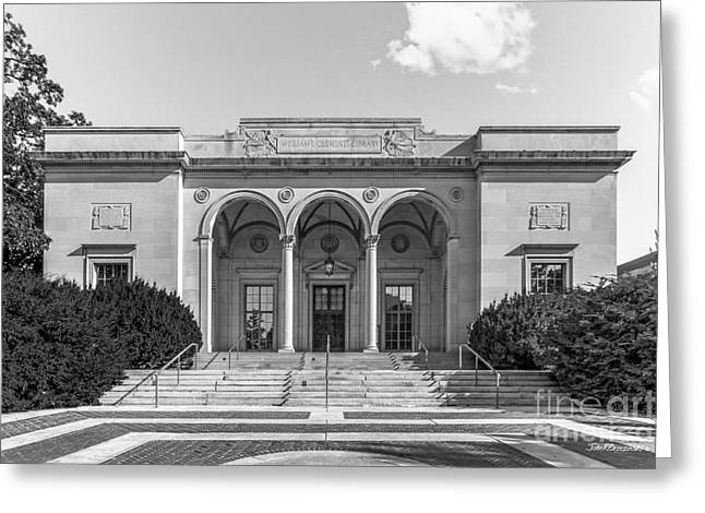 University Of Michigan Clements Library Greeting Card by University Icons