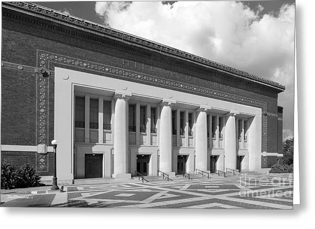 Flagship Greeting Cards - University of Michigan Hill Auditorium Greeting Card by University Icons