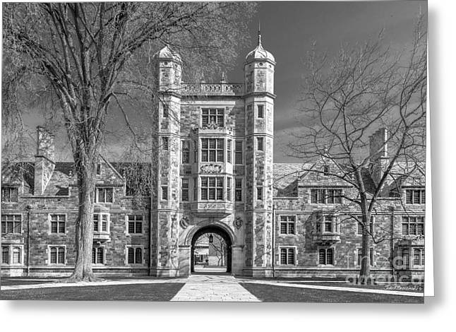 University Of Michigan Law Quad Greeting Card by University Icons