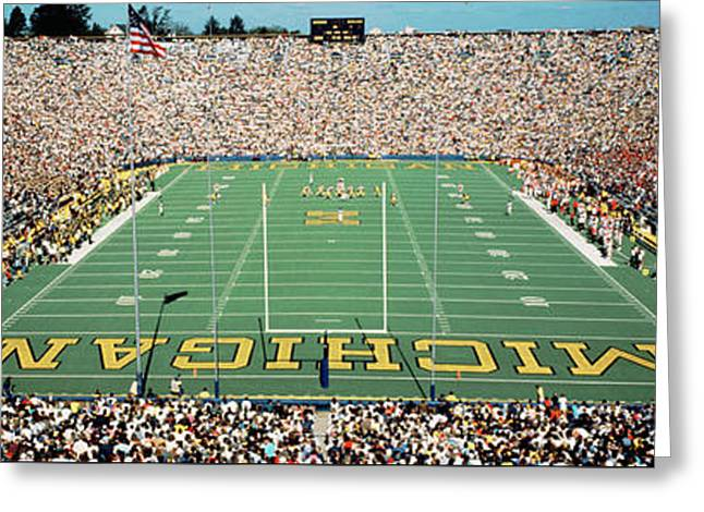 University Of Michigan Stadium, Ann Greeting Card by Panoramic Images