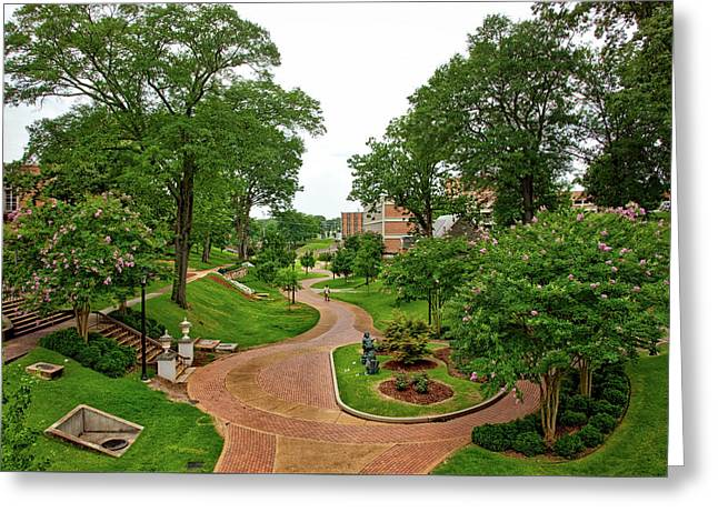 University Of North Alabama Greeting Card by Mountain Dreams