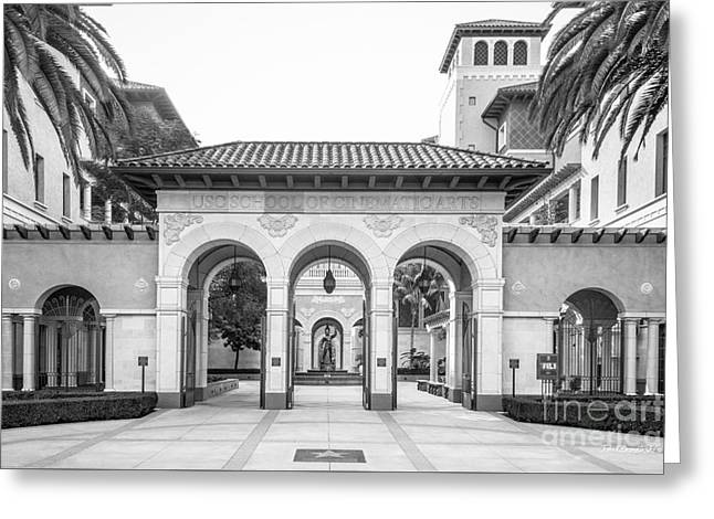 University Of Southern California Cinematic Arts Greeting Card by University Icons