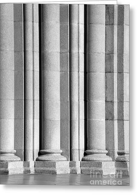 University Of Southern California Columns Greeting Card by University Icons