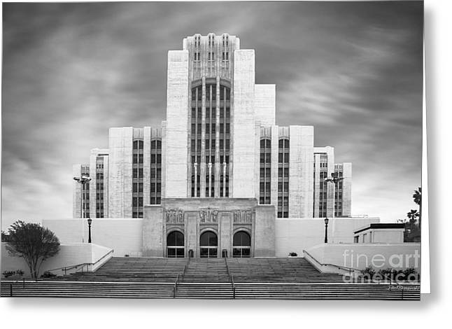 California Art Greeting Cards - University of Southern California University Hospital Greeting Card by University Icons