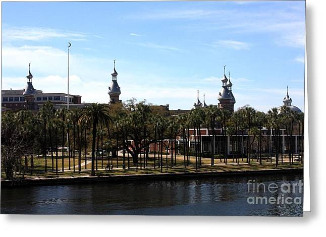 Campus Landscape Greeting Cards - University of Tampa Greeting Card by Carol Groenen