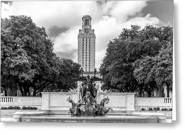 University Of Texas Austin Littlefield Fountain Greeting Card by University Icons