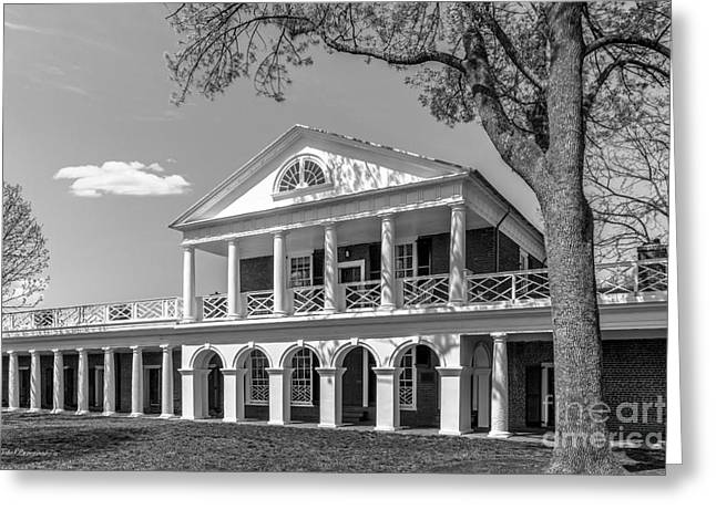 Occasion Greeting Cards - University of Virginia Academical Village Pavillion Greeting Card by University Icons