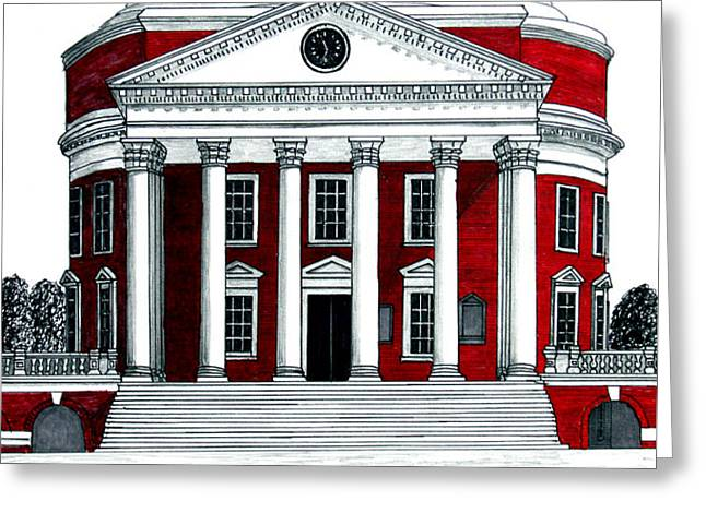 University of Virginia Greeting Card by Frederic Kohli