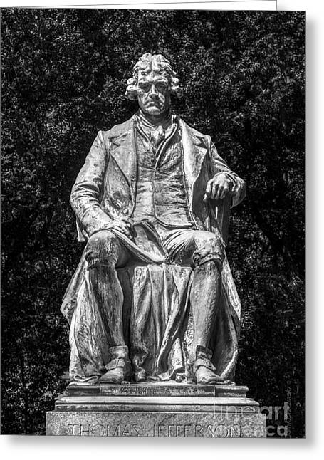 Occasion Greeting Cards - University of Virginia Thomas Jefferson Statue Greeting Card by University Icons