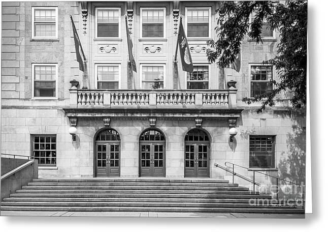 University Of Wisconsin Madison Memorial Union Greeting Card by University Icons