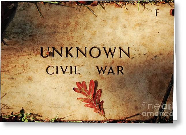 Unknown Civil War Greeting Card by Kathleen K Parker