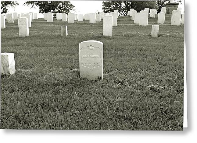 Soldiers National Cemetery Digital Art Greeting Cards - Unknown Soldier #102 Greeting Card by BackHome Images