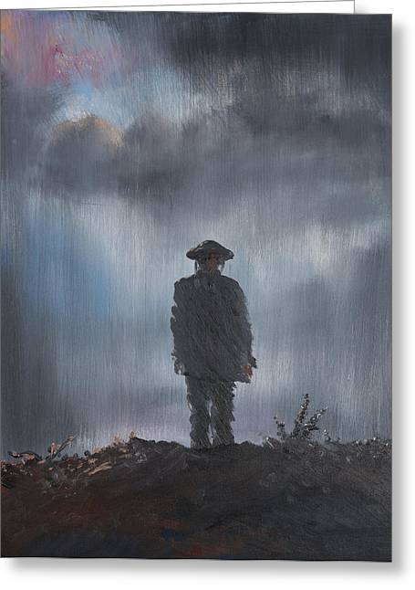 Trenches Paintings Greeting Cards - Unknown Soldier Greeting Card by Vincent Alexander Booth