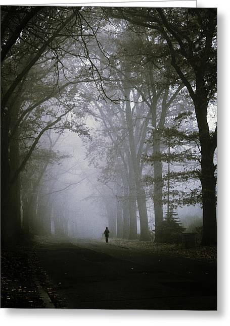 Mysterious Greeting Card featuring the photograph Unknown Way by Cambion Art