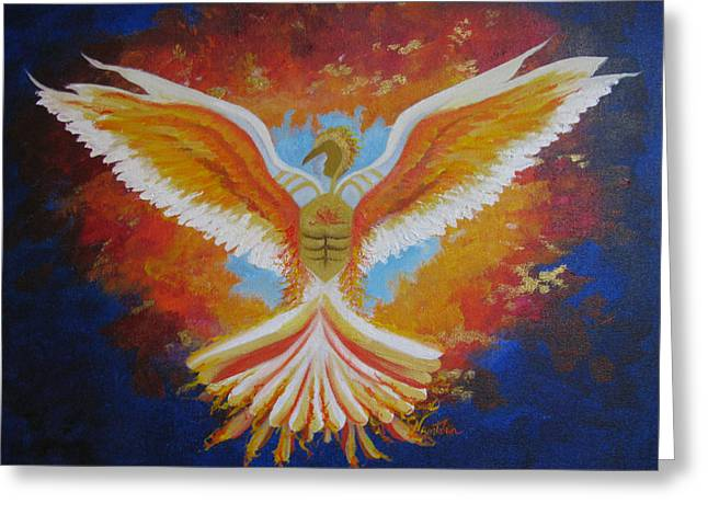 Pentecost Paintings Greeting Cards - Unleashing The Holy Spirit Greeting Card by Collette Bortolin