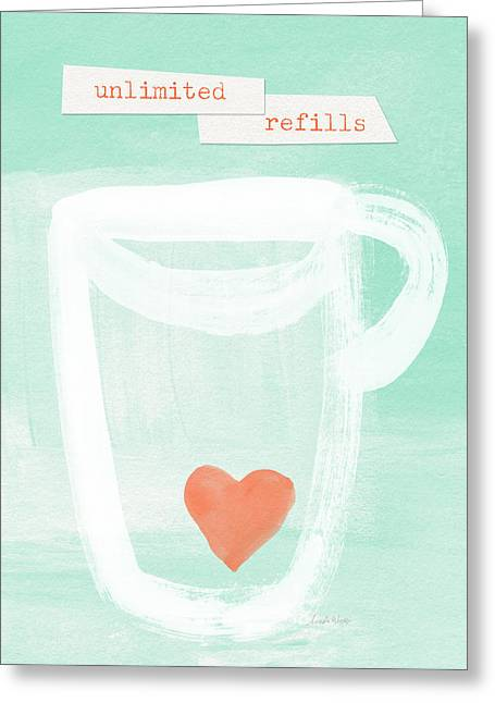Unlimited Refills- Art By Linda Woods Greeting Card by Linda Woods