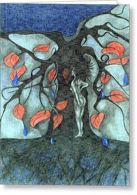 Vibrant Pastels Greeting Cards - Unmarried Woman Greeting Card by Wojtek Kowalski