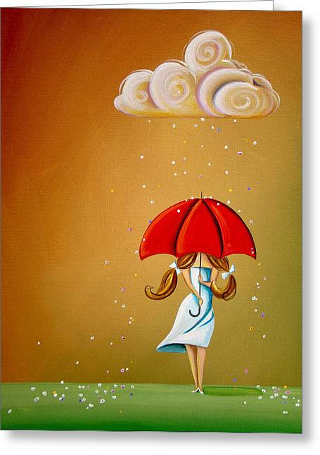 Recently Sold -  - Raining Greeting Cards - Unpredictable Greeting Card by Cindy Thornton