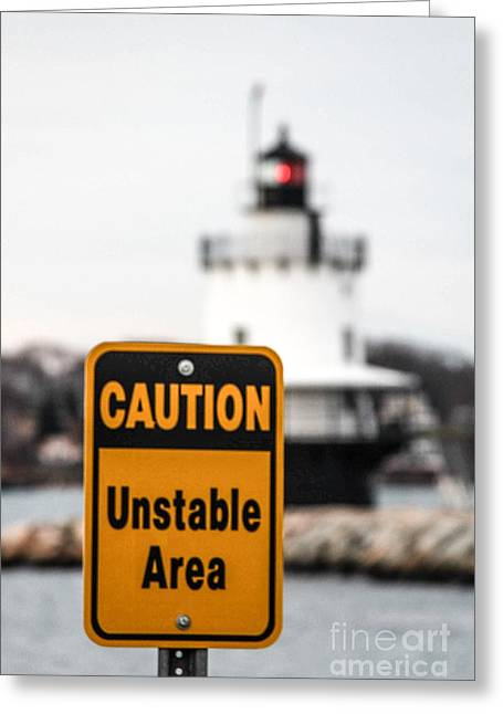 Maine Spring Greeting Cards - Unstable Greeting Card by Victory  Designs