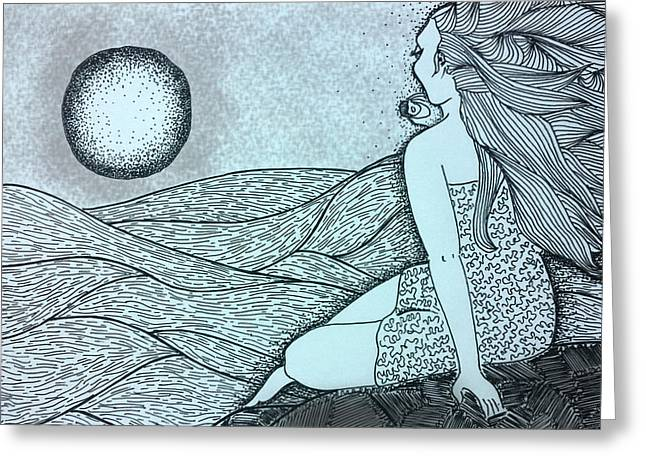 Figs Drawings Greeting Cards - Untitled 16 Greeting Card by Sreejith V